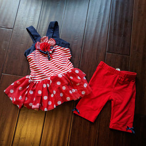 EMILY ROSE Patriotic Girls 2pc Outfit Sz 4